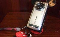 携帯置き(ミッキーストラップ付き携帯電話